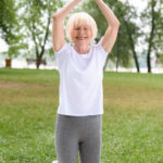 senior yoga exercise
